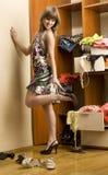 Κορίτσι με τα παπούτσια στοκ εικόνες