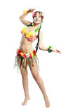 Κορίτσι με τα της Χαβάης εξαρτήματα στοκ φωτογραφία