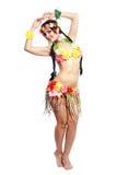 Κορίτσι με τα της Χαβάης εξαρτήματα στοκ φωτογραφίες με δικαίωμα ελεύθερης χρήσης