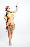 Κορίτσι με τα της Χαβάης εξαρτήματα στοκ φωτογραφία με δικαίωμα ελεύθερης χρήσης