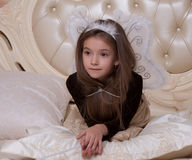 Κορίτσι με τα φτερά Στοκ εικόνα με δικαίωμα ελεύθερης χρήσης