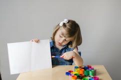 Κορίτσι με τα χρώματα Στοκ Εικόνα