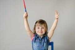Κορίτσι με τα χρώματα Στοκ Εικόνες