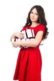 Κορίτσι με τα δώρα Στοκ εικόνα με δικαίωμα ελεύθερης χρήσης