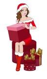 Κορίτσι με τα δώρα στοκ φωτογραφίες με δικαίωμα ελεύθερης χρήσης