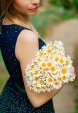 Κορίτσι με τα chamomiles Στοκ Φωτογραφία