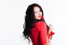Κορίτσι με την καρδιά διαθέσιμη Στοκ φωτογραφία με δικαίωμα ελεύθερης χρήσης