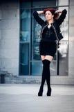 Κορίτσι με την κόκκινη τρίχα Στοκ Εικόνα