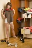 Κορίτσι με την μπλούζα στοκ εικόνες