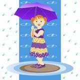 Κορίτσι με την ομπρέλα Στοκ φωτογραφία με δικαίωμα ελεύθερης χρήσης