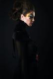 Κορίτσι με την τρίχα και makeup Στοκ Φωτογραφίες