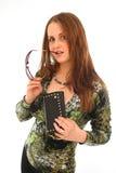 Κορίτσι με την τσάντα στοκ εικόνα με δικαίωμα ελεύθερης χρήσης