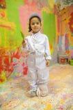 Κορίτσι με τη βούρτσα Στοκ Φωτογραφία
