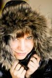 Κορίτσι με τη γούνα Στοκ Φωτογραφίες