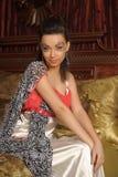 Κορίτσι με τη φαντασία makeup Στοκ Φωτογραφία