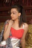 Κορίτσι με τη φαντασία makeup Στοκ φωτογραφία με δικαίωμα ελεύθερης χρήσης