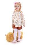 Κορίτσι με τη teddy άρκτο Στοκ εικόνες με δικαίωμα ελεύθερης χρήσης