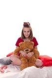 Κορίτσι με τη teddy αρκούδα στοκ εικόνες