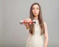 Κορίτσι με τους αλτήρες Στοκ φωτογραφία με δικαίωμα ελεύθερης χρήσης