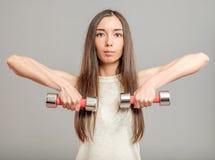 Κορίτσι με τους αλτήρες Στοκ εικόνες με δικαίωμα ελεύθερης χρήσης