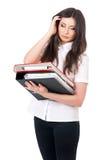 Κορίτσι με τους φακέλλους Στοκ εικόνα με δικαίωμα ελεύθερης χρήσης