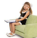 Κορίτσι με το βιβλίο Στοκ Εικόνα