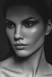 Κορίτσι με το εθνικό makeup Στοκ Εικόνες