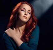 Κορίτσι με το δημιουργικό makeup Στοκ φωτογραφίες με δικαίωμα ελεύθερης χρήσης
