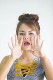 Κορίτσι με το κραγιόν στοκ εικόνα