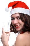 Κορίτσι με το κρασί στοκ φωτογραφία