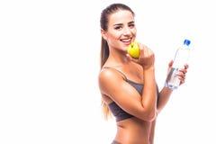 Κορίτσι με το μήλο Στοκ Εικόνα