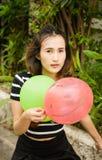 Κορίτσι με το μπαλόνι Στοκ Εικόνες