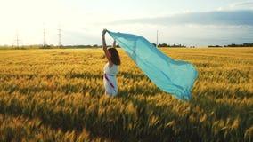 Κορίτσι με το μπλε σάλι 3 απόθεμα βίντεο