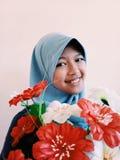 Κορίτσι με το λουλούδι στοκ εικόνες