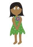 Κορίτσι με το λουλούδι Στοκ φωτογραφία με δικαίωμα ελεύθερης χρήσης