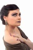 Κορίτσι με το σκουλαρίκι που ανατρέχει Στοκ φωτογραφία με δικαίωμα ελεύθερης χρήσης