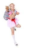 Κορίτσι με το σχολικό σακίδιο πλάτης Στοκ εικόνα με δικαίωμα ελεύθερης χρήσης
