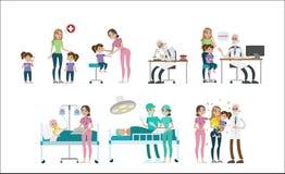 Κορίτσι με το σύνολο καρκίνου απεικόνιση αποθεμάτων