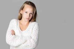 Κορίτσι με το λυπημένο πρόσωπο στοκ εικόνα με δικαίωμα ελεύθερης χρήσης