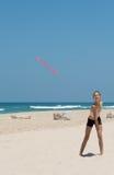 Κορίτσι με το frisbee Στοκ εικόνα με δικαίωμα ελεύθερης χρήσης