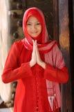 κορίτσι μουσουλμάνος στοκ φωτογραφίες