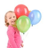 κορίτσι μπαλονιών Στοκ εικόνα με δικαίωμα ελεύθερης χρήσης