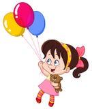 κορίτσι μπαλονιών διανυσματική απεικόνιση