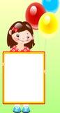 κορίτσι μπαλονιών απεικόνιση αποθεμάτων