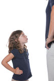 κορίτσι μπαμπάδων τρελλό Στοκ Εικόνες