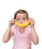 κορίτσι μπανανών λίγα στοκ εικόνα με δικαίωμα ελεύθερης χρήσης