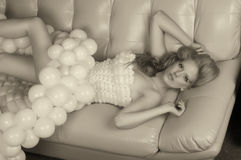 κορίτσι μπαλονιών Στοκ φωτογραφία με δικαίωμα ελεύθερης χρήσης