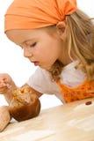 κορίτσι μπισκότων λίγη κάνο Στοκ Εικόνα
