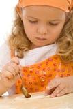 κορίτσι μπισκότων λίγη κάνο Στοκ Φωτογραφίες