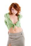 κορίτσι μπλουζών πράσινο στοκ φωτογραφία με δικαίωμα ελεύθερης χρήσης